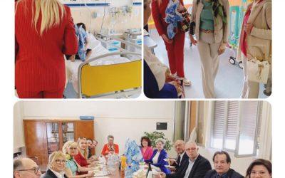 Visita al reparto di Pediatria dell'Ospedale Sant'Andrea per consegnare uova di Pasqua ai bambini ricoverati