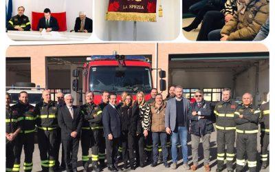 Visita ai Vigili del fuoco di Sarzana con il Sottosegretario Candiani
