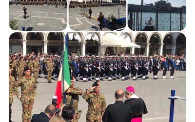 Centenario stemma di San Marco alla Brigata Marina