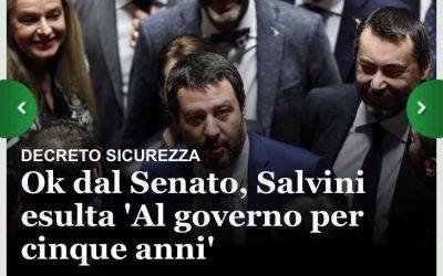 Approvato il Decreto Salvini