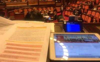 Cronache di giornata romana tra Aula e Commissioni del Senato