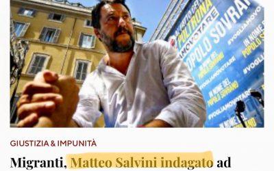 Un'assurdità il processo a Salvini per il caso Open Arms!