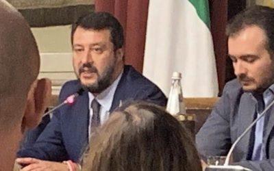 Riunione gruppo Lega con Matteo Salvini