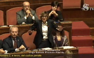 Intervento di Giulia Bongiorno sul Caso Gregoretti