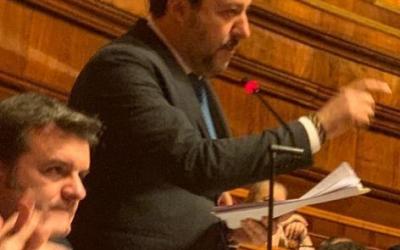 Matteo Salvini interviene in Aula sul Caso Gregoretti