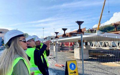 Sopralluogo al cantiere del Ponte Morandi di Genova