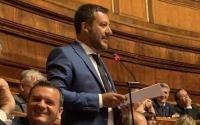 In Aula con Matteo Salvini per chiedere il VOTO
