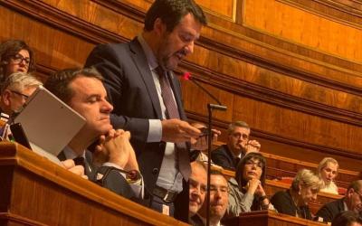 Straordinario intervento di Matteo Salvini