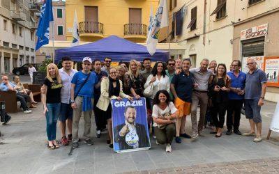 Gazebo Lega a La Spezia