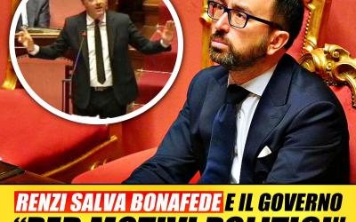 Renzi salva Bonafede dalla mozione di sfiducia