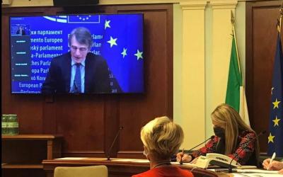 David Sassoli in audizione alla Commissione Diritti umani