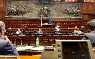 In aula alla Camera dei Deputati per la Commissione congiunta Difesa-Esteri