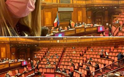 Ministro Lamorgese in Aula e maggioranza assente