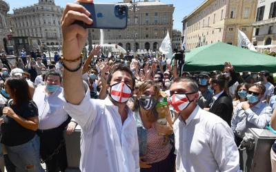 La giornata in Liguria di Matteo Salvini