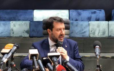 Matteo Salvini in diretta da Catania