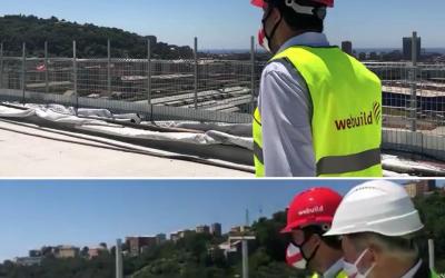 Con Matteo Salvini sul nuovo Ponte Morandi