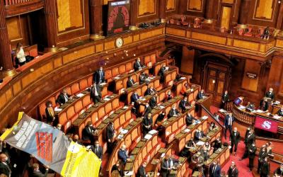 Protesta della Lega contro il Decreto Clandestini!