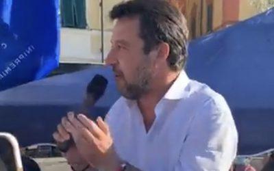 Con Matteo Salvini a Lerici