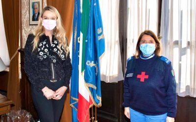 Incontro con Ispettrice del Corpo infermiere volontarie Croce Rossa Italiana, Sorella Emilia Scarcella