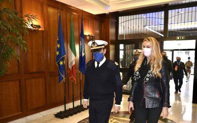 Incontro con Comandante operazione EUNAVFOR MED, Amm Fabio Agostini