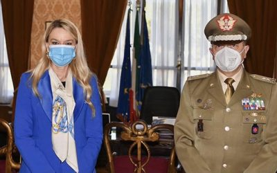Incontro con Commissario Generale Onoranze ai Caduti, Gen De Cicco