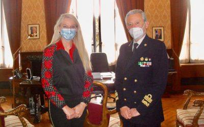 Incontro con Comandante Generale del Corpo delle Capitanerie di porto, Ammiraglio Ispettore Capo Giovanni Pettorino