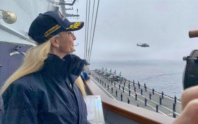 Rientro della portaerei Cavour dopo Ready for Operations