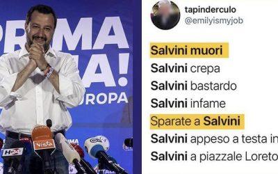 Minacce di morte a Salvini, assordante silenzio della sinistra