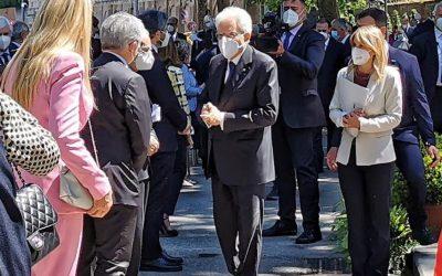 Cerimonia inaugurazione Largo Carlo Azeglio Ciampi, con Presidente della Repubblica