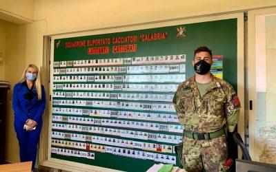 """Visita presso Comando Squadrone Eliportato """"Cacciatori di Calabria"""" dei Carabinieri"""