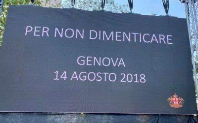 Ricordo della tragedia del Ponte Morandi a Genova