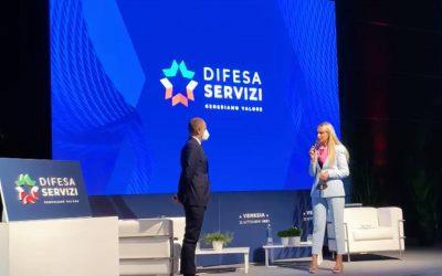 Il mio intervento alla presentazione del nuovo logo di Difesa Servizi S.p.A.